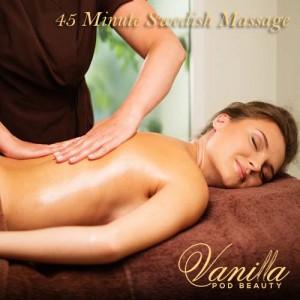 45 Minute Swedish Massage