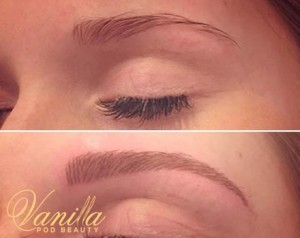 Hair stroke brows for Laura today.. Enhancing the shape she already had naturally