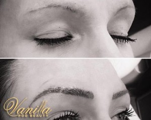 Semi Perm Hair Stroked Brows